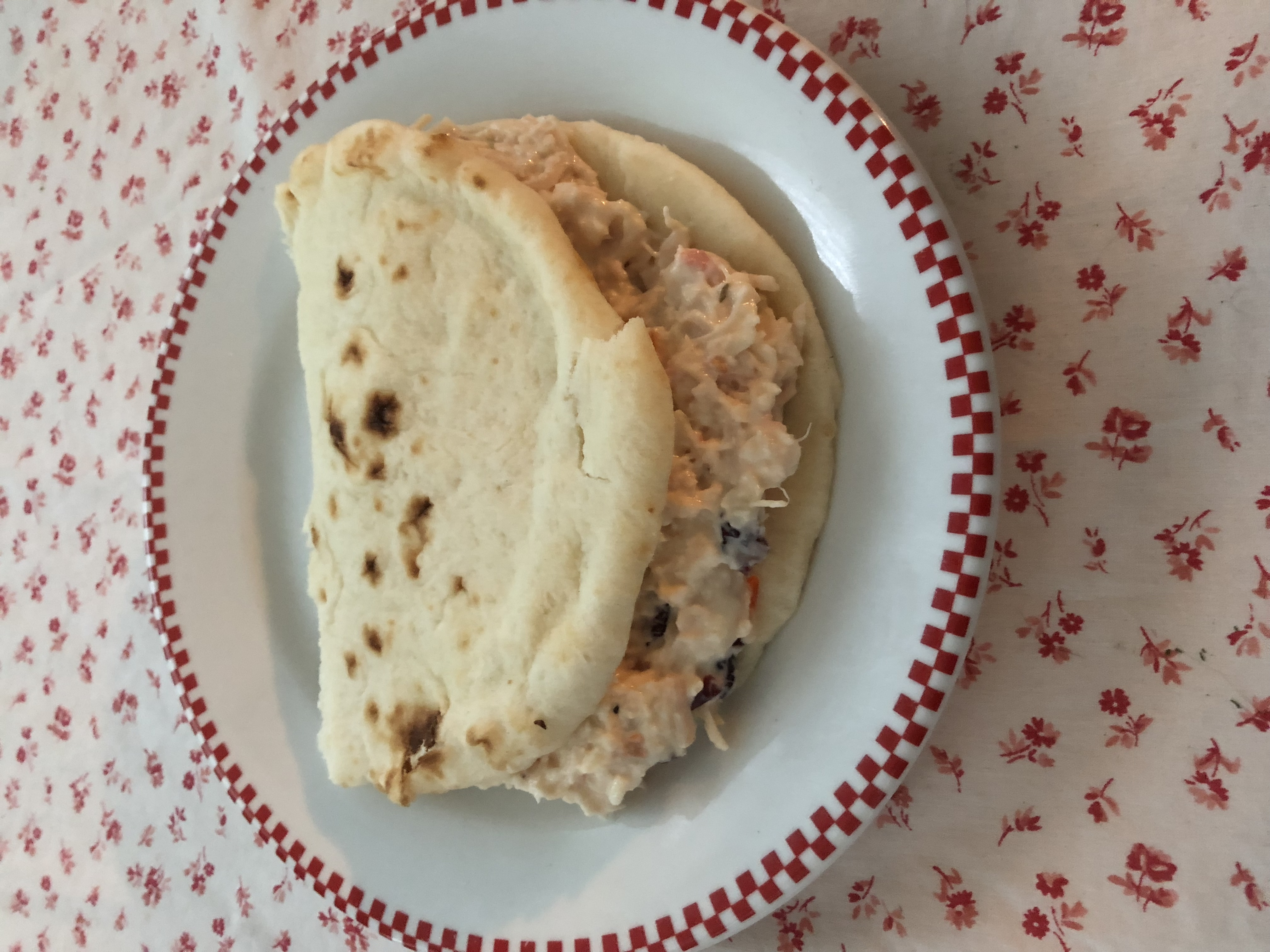 Easy Chicken Salad on Naan Bread